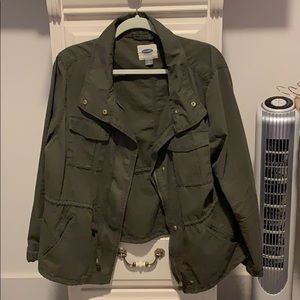 Old navy green utility jacket